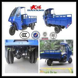 Africa market heavy duty 200cc double rear wheels tricycle with dumper in Kenya
