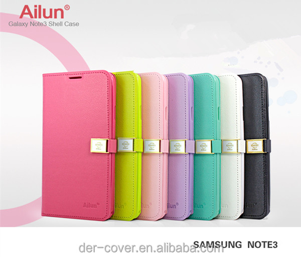 designer mobile cell phone case , Leather Phone Case for Samsung Galaxy note3