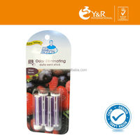 2015 New Design Hot Car Odor Eliminator Purple Vent Sticks Air Freshener