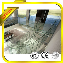 Weihua Size Customized 4mm 5mm 6mm 8mm 10mm 12mm Tempered Glass, Clear/Colored/Tinted/Stained/Flat/Curved/Bent