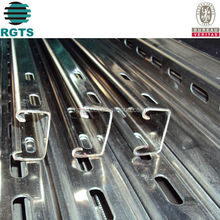 China manufacture Q345 GI C purlin steel frame C section slotting C channel for prefabricated house