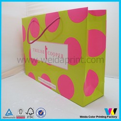China paper shopping bag retail , personalized art paper bag