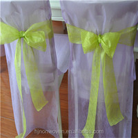 disposable wedding chair sashes in size 10cm*10m