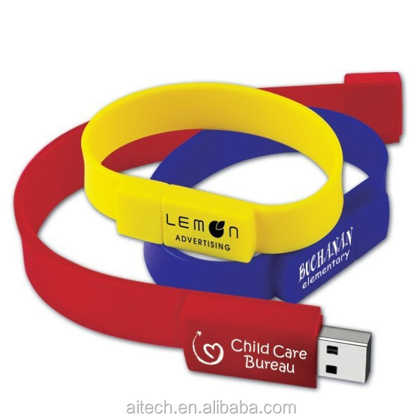 Cheap Personalized Wristband Bracelet Stripe Shape Usb Flash Drive