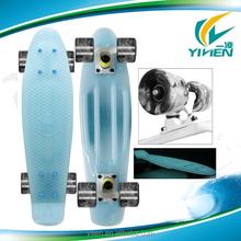 celestial teal/swirl wheels 22'' fish style skateboard new