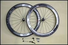 De alta calidad de carbono bicicleta de carretera ruedas 700c 3k bruto/mate acabado de carbono ruedas chino