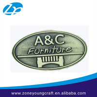 Fashion decoration furniture metal nameplate