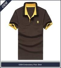 el peso pesado de piqué de algodón de polo <span class=keywords><strong>bordado</strong></span> el logotipo de camisas hechas a medida