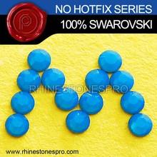 Genuine Swarovski Elements Caribbean Blue Opal (394) 34ss Flat Back Crystal No Hotfix Rhinestone