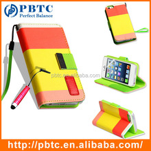 Set Screen Protector Stylus And Case For Iphone 5 , Wholesale Leather Holder Case