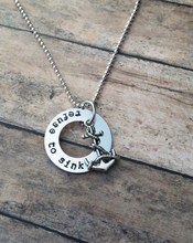 custom hand stamped jewelry with anchor charm, personalized jewelry