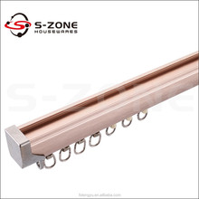 heavy duty aluminum single double curtain rail curtain track for window drapery