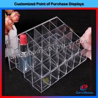 Hot-sale clear acrylic lipsticks organizer