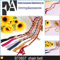 Metal Chastity women belts leopard belt metal chain belt 2015 for wedding dress