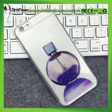 Pomational shimmering powder pc tpu 3d transparent mobile cell phone case for iPhone mobile