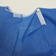 Customize disposable SMS PP nonwoven medical hospital colored isolation gown Waterproof Doctor Sterile Surgical Coats