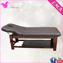 Flexible comfortable wooden mobile therapy hydraulic massage table MD41B