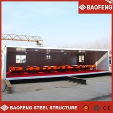 hydraulic system standard shipping container house prefab shipping