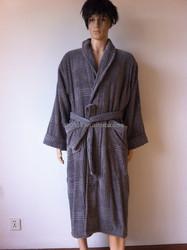 grey color five-star hotel bathrobe Cotton Bathrobes