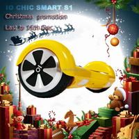 Yellow chic smart S1 two wheels hands free self balancing electric scooter CHIC SMART boards