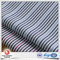 cotton model silk yarn dyed navy blue and white stripe fabric for men shirt