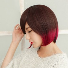 Fashion Lady Human Hair Short Bob Lace Front Wig Manufacturer