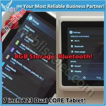 Honesty china tablet supplier sell 7 inch Q88 style dual core tablet for android