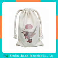 Drawstring canvas canvas gift bag with your logo