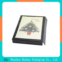 new popular product elegent OEM gift card box with the special paper