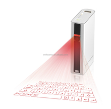 laser keyboard and wireless mouse functionof voice reading power bank via usb or bluetooth for mouse ipad,android tablet, laptop