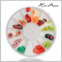 bright colour 2014 fruits shaped nail art decoration