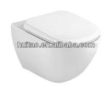 Ht805 pared sanitarios- colgado inodoro armario de cerámica bowl de lujo para la decoración