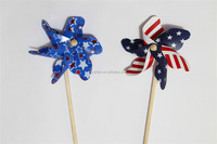 plastic patriotic pinwheel & windmill for fourth of July