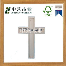 2015 year China suppliers FSC&SA8000 custom religious handmade decorative wooden crosses for sale