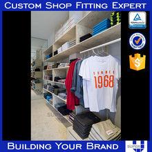 custom retail shop Modern T-shirt hanging Display Fixtures