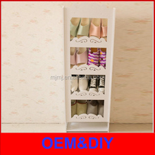 china supplier dongyang furniture export decorative covered stackable plastic shoe rack with cover