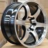 matt black 18*8.5 replica silver car alloy wheel 5*114.3