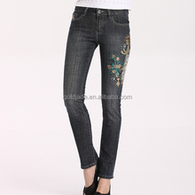 newest washed jeans wholesale price ,cheapest embroidery bangkok jeans ,tops and jeans photos
