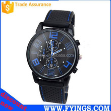 Silicone vogue watch digital watch 3atm water resistant stainless steel watch case back