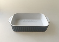 Ceramic Colorful Nice Oven Oblong Baking Tray