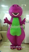 top sale barney mascot costume cartoon character mascot costume