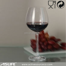 ASG4823 wholesale european style wine glass with stripes 643ml/23oz non lead crystal red wine painted wine glass patterns