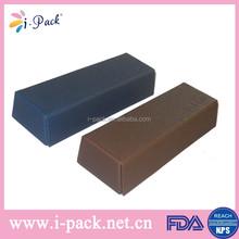 Leather fold up handmade magnetic leather eyewear case,optical glasses case,eyelgasses case