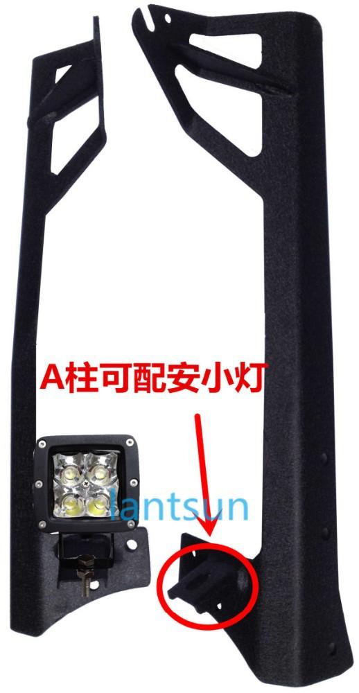 """지프 랭글러 JK 50"""" LED 바 마운트, 오프로드 자동차 앞 유리 마운트 ..."""