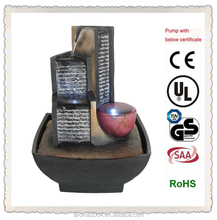 polyresin craft 3 pillar indoor tabletop fountains