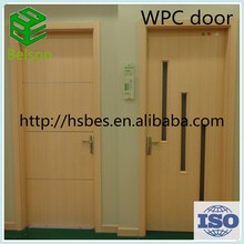 WPC materials cheap wooden door for bathroom use