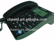 Modern caller ID phone with 65 incoming numbers, 25 outgoing numbers, 100 VIP numbers and 150 phone book memory