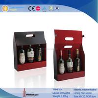 WinePackages custom leather wine bottle bag,wine tote bag wholesale