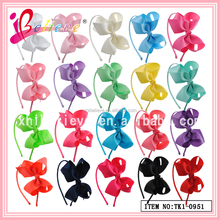 2015 Newest custom grosgrain ribbon bow headband, wholesale baby hairbands products,baby headband