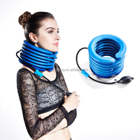 U shape rubber cervical traction adjustable inflatable cervical collar neck support brace for neck stiff